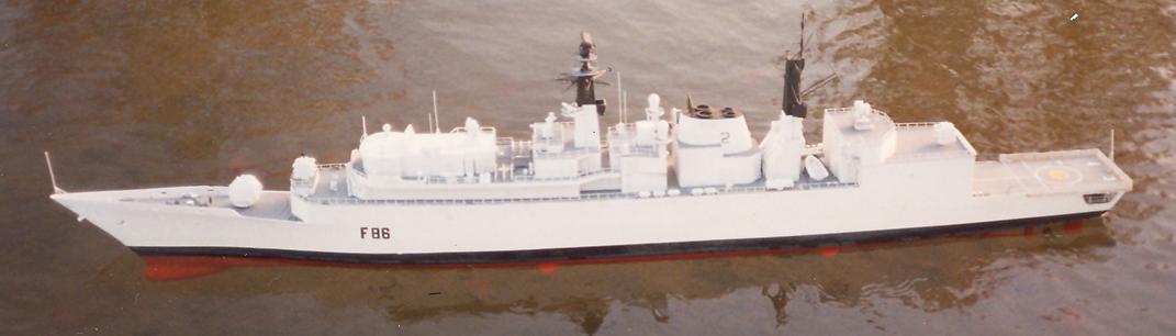 HMS Campbeltown, F86, Radio Control, Scratch Built, Scale Model