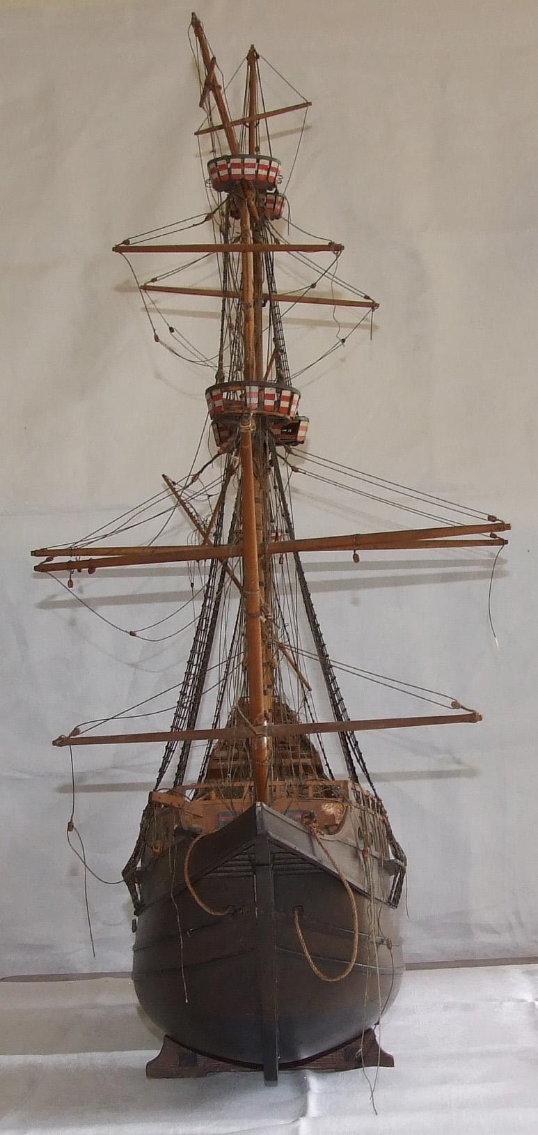 Elizabethan Galleon model unrestored. Restored Galleon