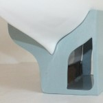 Wall mounted yacht stand - bow view