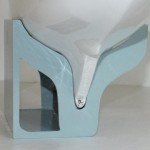 Wall mounted stand for a Yacht - stern view
