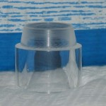 The acrylic stand with the turned taper and the resulting lip